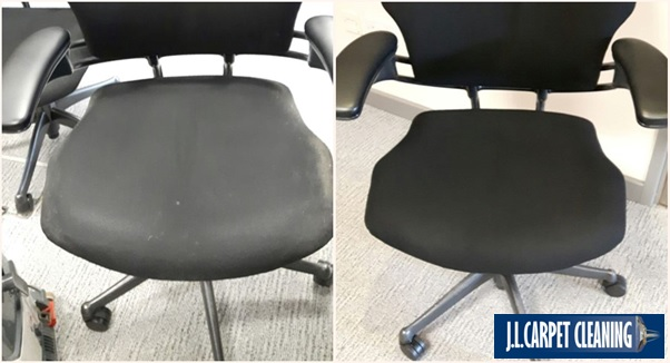 commercial upholstery cleaning before & after
