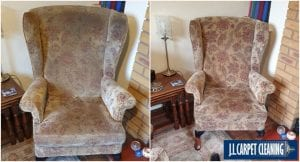 before and after upholstery cleaning in Shropshire